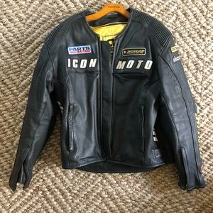 Dunlop leather motorcycle jacket.